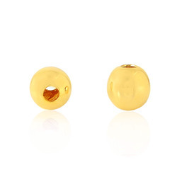 18k yellow gold round bead finding