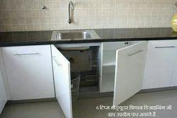 Granite Stone Tiles Granite Kitchen Platform, Residential Building