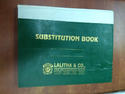 Substitution Book