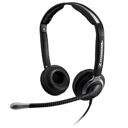 Black Sennheiser CC 550 Dual Sided Headsets