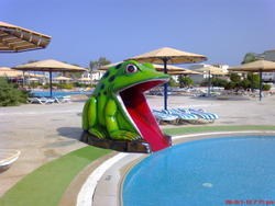 frog slide kiddie slide