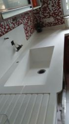 Acrylic Solid Surface Washbasin Top