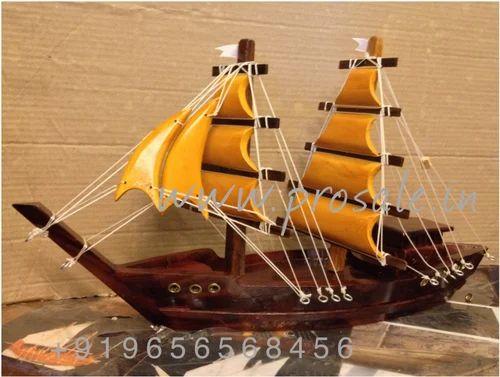 Kerala Wooden Dhow Vasco Ship Miniature Handicraft 30cm At Rs 1500