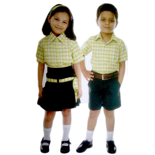 Yellow Black Kids School Uniforms