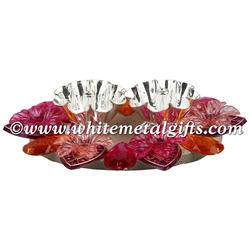 Floating Floral Double Diya