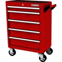 Red-28 5 Drawer Roller Cabinet