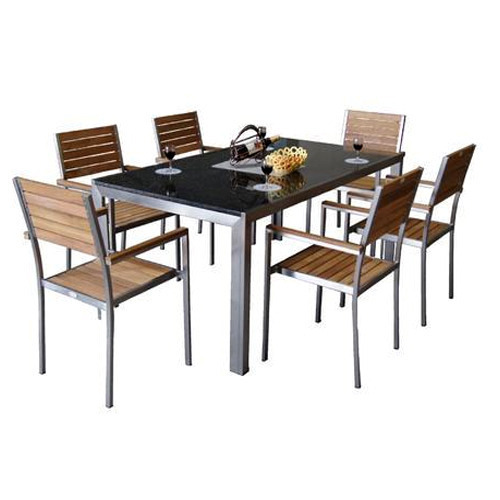 Metal Furniture Metal Dining Table Set Manufacturer From