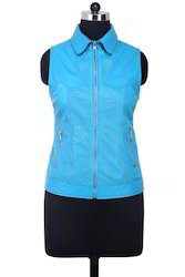 Ladies Leather Vest