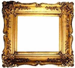 Golden Vintage Photo Frame