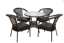County Style Wicker Outdoor Coffee Set