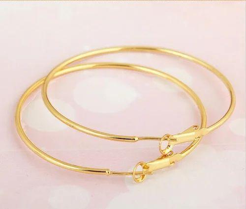 Las Golden Round Earrings