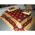 Designer Bed Sheets Silk Flower Embroidery