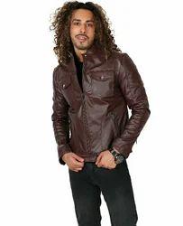Faux Leather Men Jacket