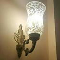 Brass Led And Incandascent Wall Side Lamp