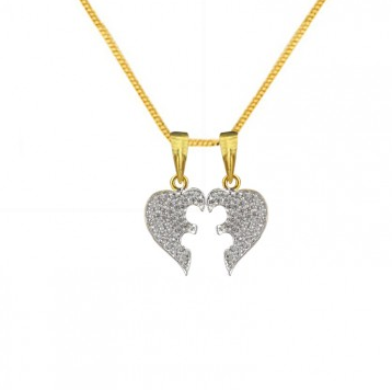 pendant p couples half pendants in with for cz heart gift matching sterling diamonds silver