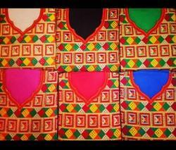 Unstitched Cotton Phulkari Suits