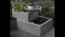 Grey Fiberglass Fountain