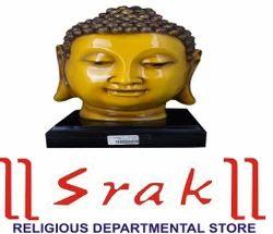 Yellow Buddha Head Statue