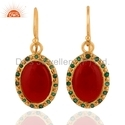 925 Silver Gold Plated Gemstone Earrings Jewelry