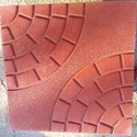 76671 Red &yellow Football Shape Cemented Tile, 76679