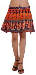 Block Print Short Wrap Skirt