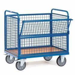 Wire Net Box Trucks Platform Trolley