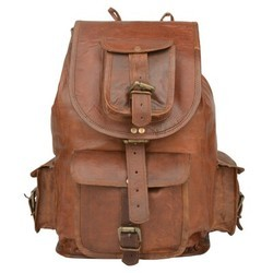 Genuine Leather Hiking Backpack BP105