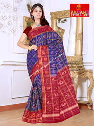 Zari Checks Patola Saree