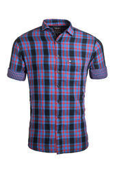 Full Sleeves Urban Design Purple Double Fabric Casual Shirts, Size: M, L & LX