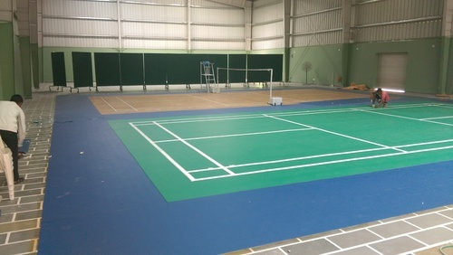 Sports Flooring Services Pvc Indoor Badminton Court