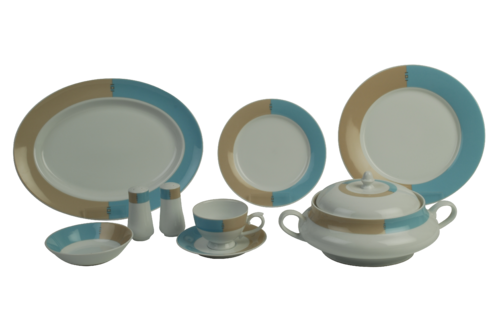 Spring Valley Blue Dinner Set