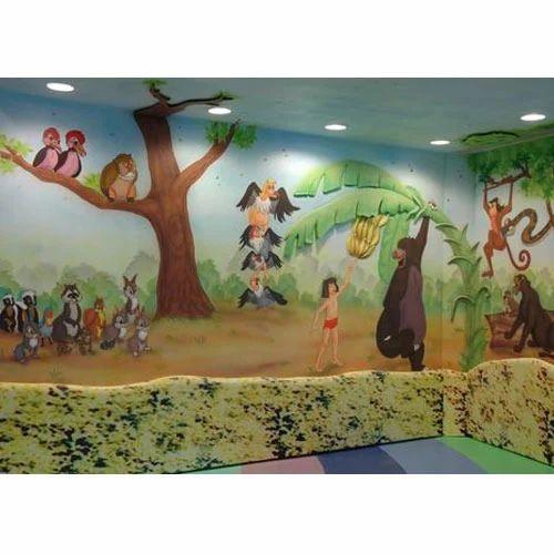 Theme Based Wall Paintings Aquarium Themed Wall Painting