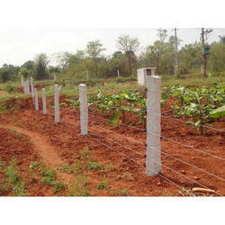 Solar Stone Fence for Agricultural Land