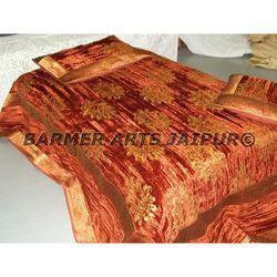 Designer Bed Sheets velvet zari boota