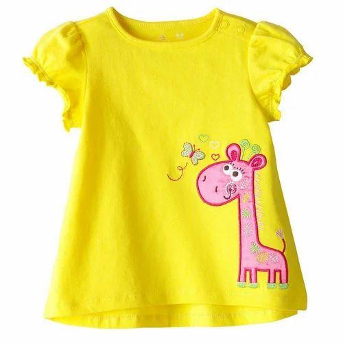 572a84e7 Kids Girls Cartoon T Shirts at Rs 150 /piece | Kids T-shirt | ID ...