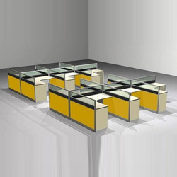Rectangular Modular Office Workstation