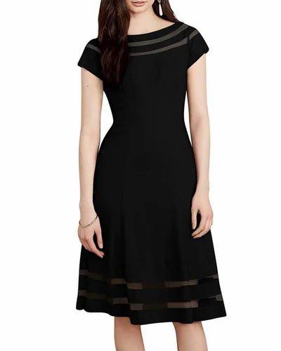 dc80b2a78b8 Plus Size Dresses - LURAP- Sheer Detail Dress Manufacturer from Gurgaon