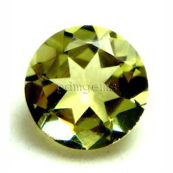 Lemon Quartz Round Cut Gemstone