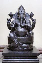 Divine Black Stone Karpaga Vinayagar 3 Ft Ganesh Statue