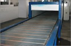 Stainless Steel Wire Mesh Chain Conveyor, Capacity: 1-50 kg per feet