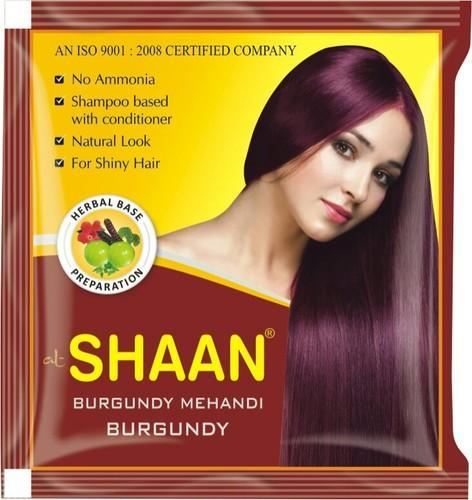 Burgundy Henna Hair Color Pack Size 5gms For Parlour Rs 40