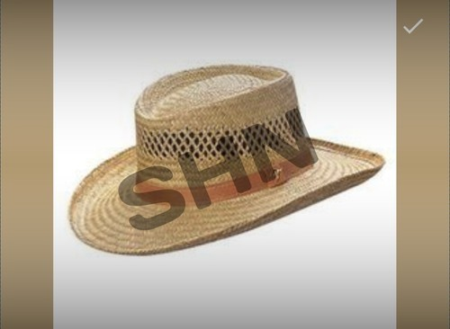 Mens Straw Party Hat, Size: M And L