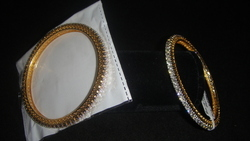Diamond Bracelet Diamond Studded Bangle, Packaging Type: Box