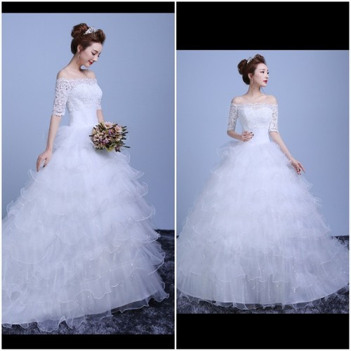8c976837c Christian Wedding Gown Be Beautiful Latest Design White Train Wedding Gowns,  Size: Small