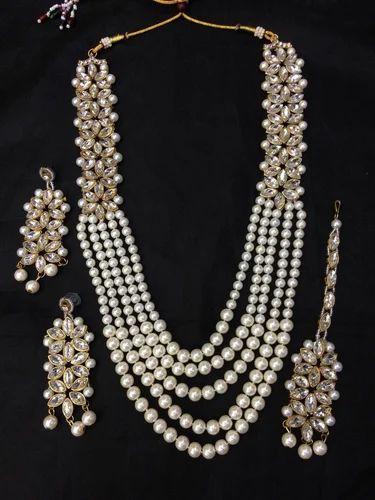 807024d2ef9 Female Anam Imitation Jewellery Kundan Necklace Sets