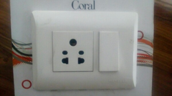 White 16 Amp Havells Electrical Switches, 240 Volt