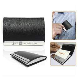 Black Pu Leather Business Visiting Card Holder