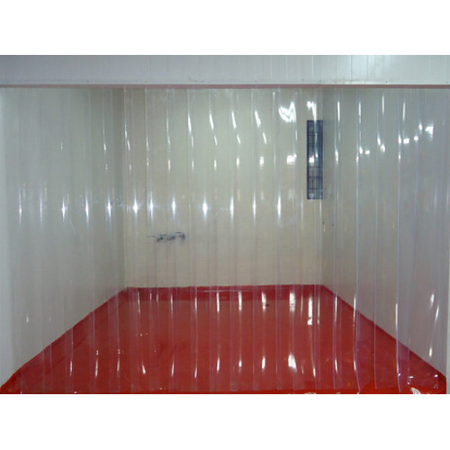 White And Multicolor Clear View Transparent PVC Curtains