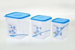 Plastic Airtight Square Container Big Set