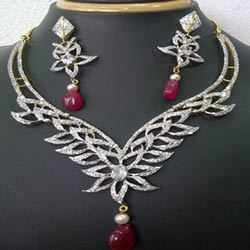 zircon studded jewelry in jaipur ज क र न जड त